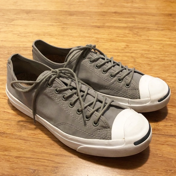 Converse Jack Purcell gray canvas sneakers Men's 9
